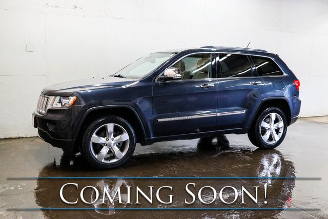 2013 Jeep Grand Cherokee Overland 4x4 w/Nav, Backup Cam, Panoramic Roof, Heated/Cooled Seats & Tow Pkg
