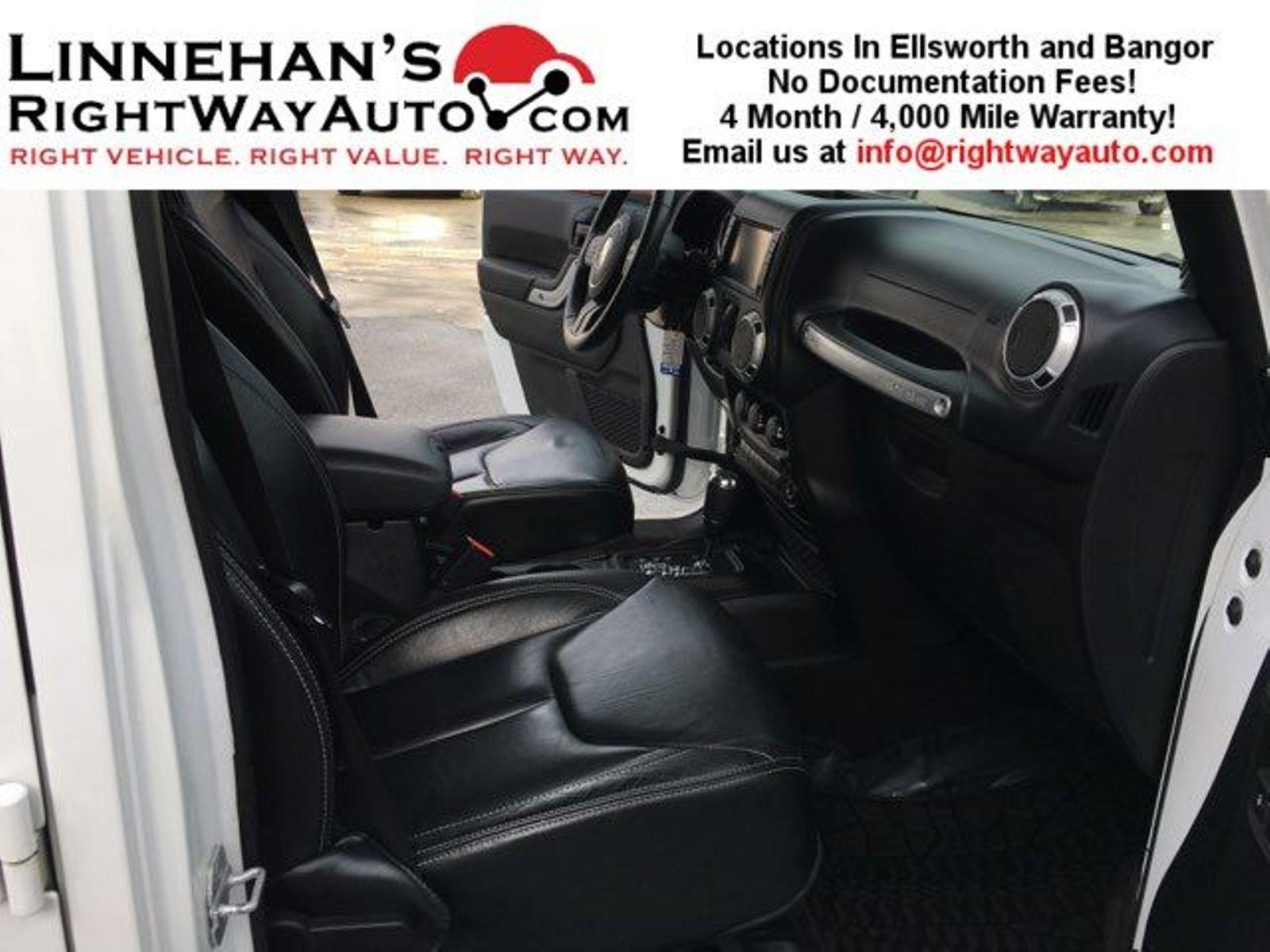 2013 Jeep Wrangler Unlimited Sahara Jk Leather Seats In Bangor Me