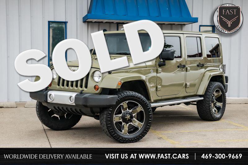 2013 Jeep Wrangler Unlimited SAHARA 4X4, HTD LTHR SEATS, NAV, CHROME PKG,NICE!! in Rowlett Texas