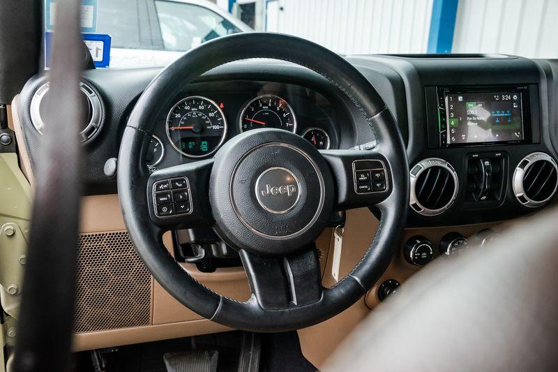 2013 Jeep Wrangler Unlimited SAHARA 4X4, HTD LTHR SEATS, NAV, CHROME PKG,NICE!! in Rowlett, Texas