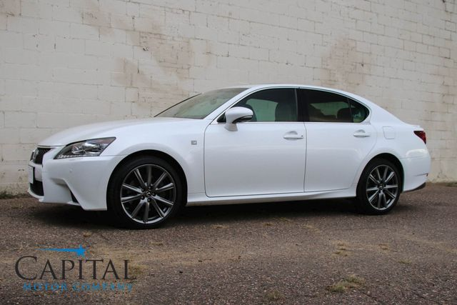 """2013 Lexus GS 350 AWD F-SPORT Package with Heated/Cooled Seats, Navigation Pkg and 19"""" Wheels in Eau Claire, Wisconsin 54703"""