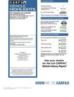 2013 Mazda CX-9 Sport AWD Naugatuck, Connecticut 1