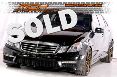 2013 Mercedes-Benz E63 - Original MSRP of $101075 in Los Angeles