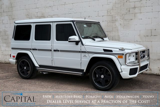 "2013 Mercedes-Benz G-Wagon G63 AMG AWD Luxury SUV w/NAV, Backup Cam Heated/Cooled Seats, H/K Audio & Black 20"" Wheels in Eau Claire, Wisconsin 54703"