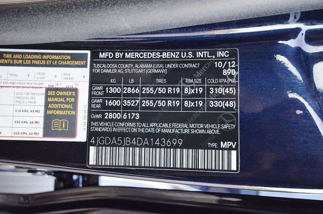 2013 Mercedes-Benz ML 350  AUTO - 33K MILES - NAVI - HTD STS - SUNROOF Reseda, CA 36