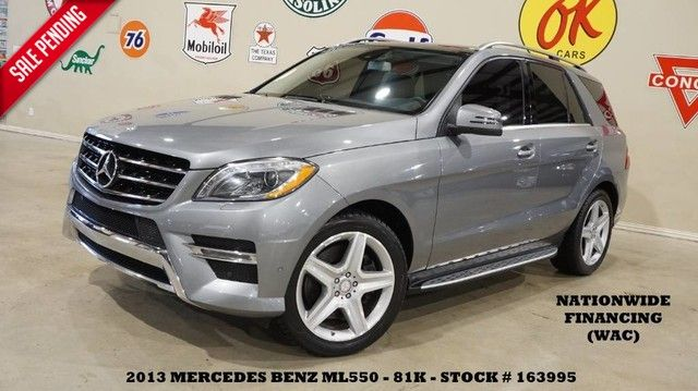 2013 Mercedes-Benz ML 550 4MATIC PANO ROOF,NAV,BACK-UP,HTD LTH,81K!
