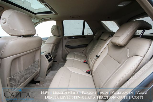 2013 Mercedes-Benz ML350 BlueTEC 4MATIC AWD Clean Diesel with Nav, Backup Cam, Moonroof, Heated Seats & Tow Pkg in Eau Claire, Wisconsin 54703