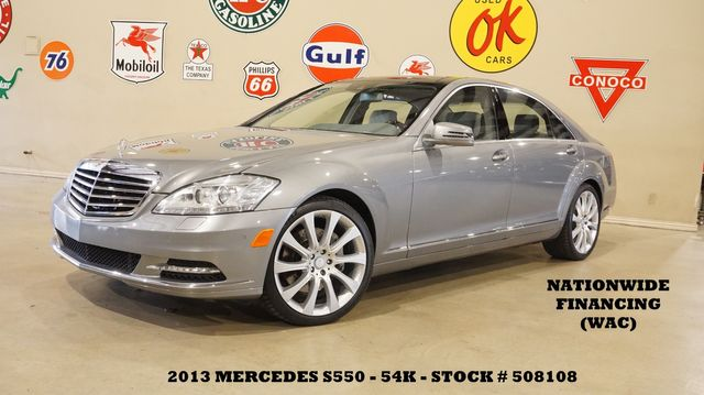 2013 Mercedes-Benz S 550 PANO ROOF,NAV,BACK-UP,HTD/COOL LTH,20'S,54K
