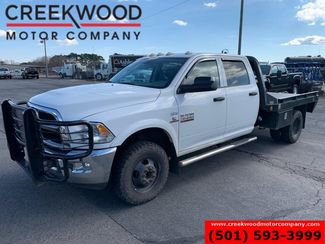 2013 Ram 3500 Dodge White 4x4 Dually Diesel Aisin Trans Flatbed Crew in Searcy, AR 72143