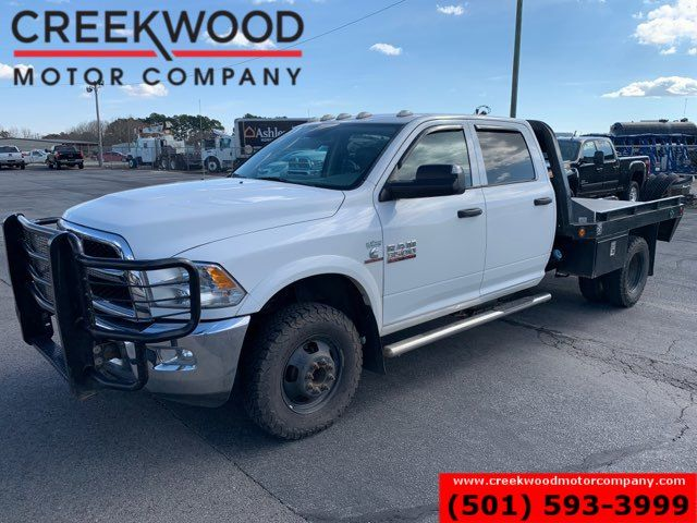 2013 Ram 3500 Dodge White 4x4 Dually Diesel Aisin Trans Flatbed Crew