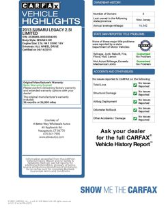 2013 Subaru Legacy 2.5i Limited Naugatuck, Connecticut 1