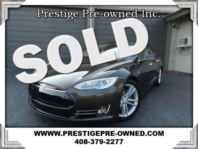 2013 Tesla Model S ((**NAVIGATION & BACK-UP CAMERA**))  in Campbell CA