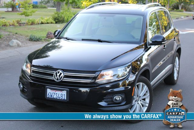 2013 Volkswagen TIGUAN SE 1-OWNER NAVIGATION PANORMAIC ROOF LEATHER ALLOY WHLS SERVICE RECORDS