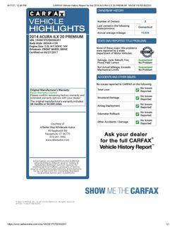 2014 Acura ILX Premium Pkg Naugatuck, Connecticut 1