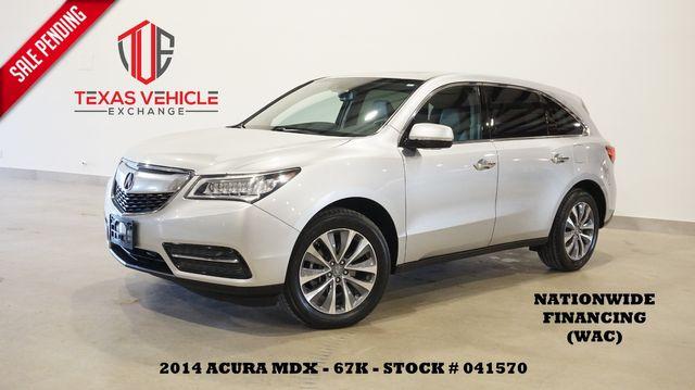 2014 Acura MDX Tech Pkg AWD ROOF,NAV,BACK-UP,HTD LTH,3RD ROW,67K
