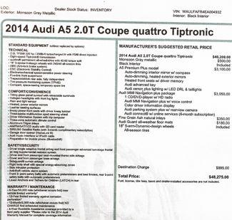 2014 Audi A5 2.0T Quattro Premium Plus in Alexandria VA