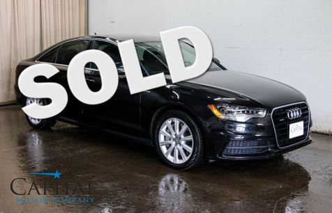 2014 Audi A6 3.0T Prestige Quattro AWD w/Nav, Backup Cam, Heated/Cooled Seats, Keyless Start & BOSE in Eau Claire