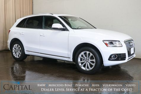 2014 Audi Q5 2.0T Premium Plus Quattro AWD w/Navigation, Panoramic Roof, Heated Seats & 2-Tone Interior in Eau Claire