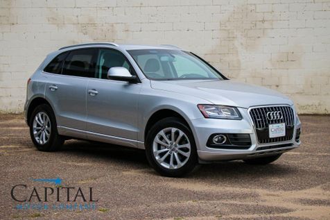 2014 Audi Q5 2.0T Quattro AWD Luxury Crossover with 10-Speaker Sound System, Power Seats & 18