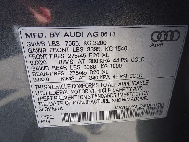 2014 Audi Q7 3.0L TDI Premium Plus Madison, NC 59
