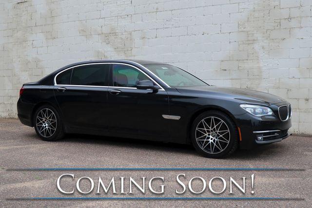 "2014 BMW 750Li xDrive AWD Executive Car w/Heated, Cooled & Massage Seats, Driver Assist Plus Pkg & 19"" Rims"
