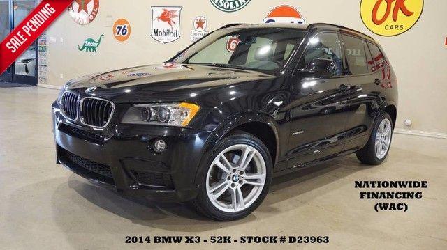 2014 BMW X3 xDrive28i PANO ROOF,NAV,HTD LTH,PARK SENSORS,19...