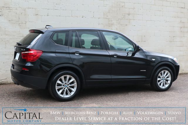 2014 BMW X3 xDrive28i AWD Crossover w/Navigation, Panoramic Moonroof, Heated Seats & Bluetooth Audio in Eau Claire, Wisconsin 54703