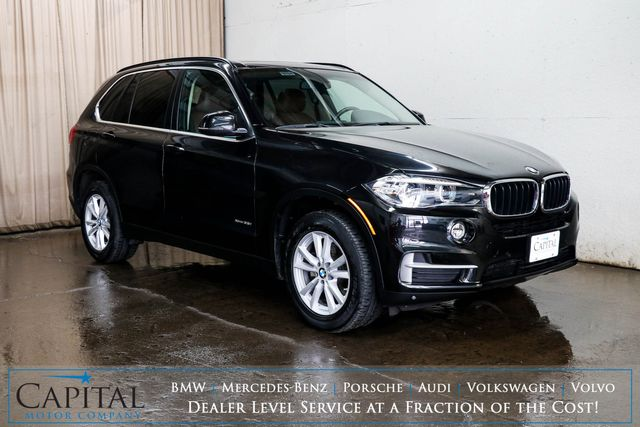2014 BMW X5 xDrive35i AWD Luxury SUV w/Nav, Panoramic Roof, Heated Seats and Gorgeous 2-Tone Interior