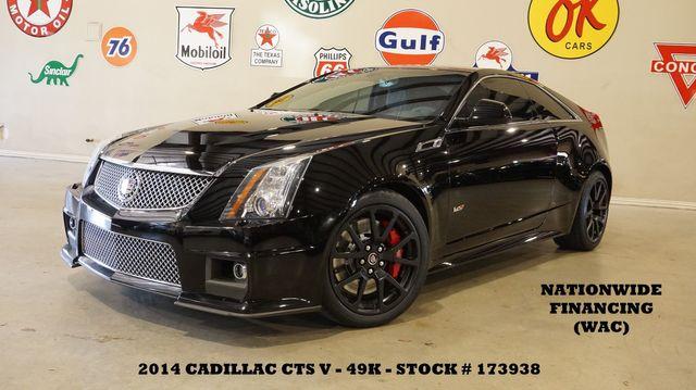 2014 Cadillac CTS-V Coupe AUTO,ROOF,NAV,BACK-UP,RECARO,BLACK WHLS,49K in Carrollton, TX 75006
