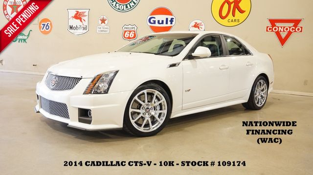 2014 Cadillac CTS-V Sedan AUTO,ULTRA ROOF,RECARO,NAV,BACK-UP,10K