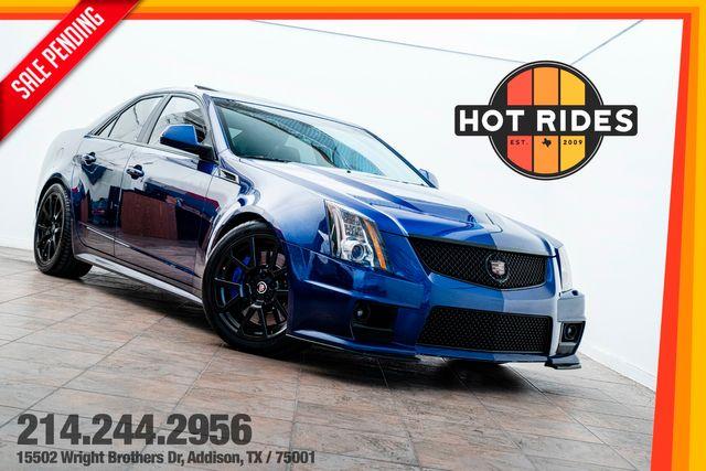 2014 Cadillac CTS-V Sedan Heads/Cam in Opulent Blue Metallic in Addison, TX 75001