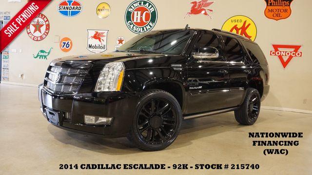 2014 Cadillac Escalade Premium SUPERCHARGED,ROOF,NAV,REAR DVD,22'S,92K