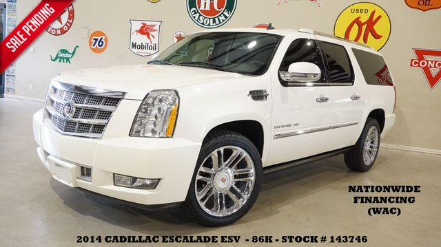 2014 Cadillac Escalade ESV Platinum ROOF,NAV,REAR DVD,QUADS,CHROME 22'S,86K