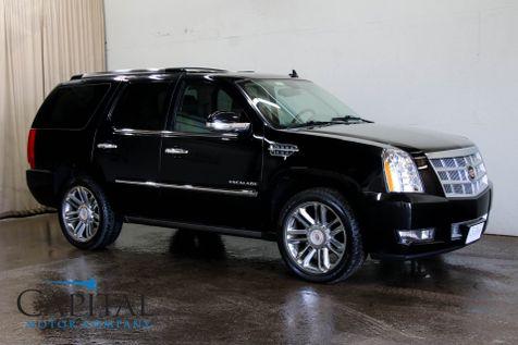 2014 Cadillac Escalade Platinum AWD w/Dual DVD, Navigation, Heated/Cooled Seats, BOSE Audio & 22