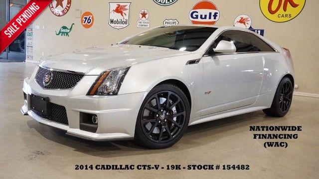 2014 Cadillac V-Series SUNROOF,NAV,BACK-UP,RECARO,BLACK WHLS,19K!