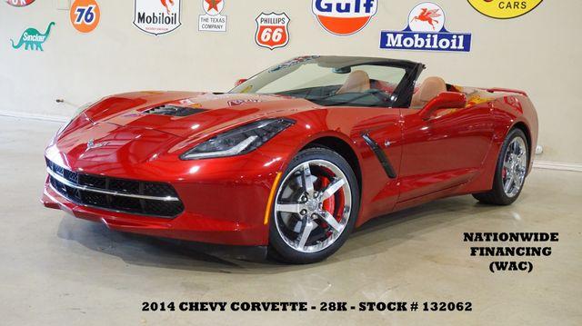 2014 Chevrolet Corvette Stingray Conv 2LT HUD,HTD/COOL LTH,CHROME WHLS,28K