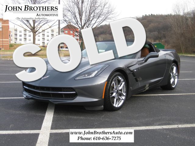 2014 Sold Chevrolet Corvette Stingray Convertible Z51 3LT Conshohocken, Pennsylvania