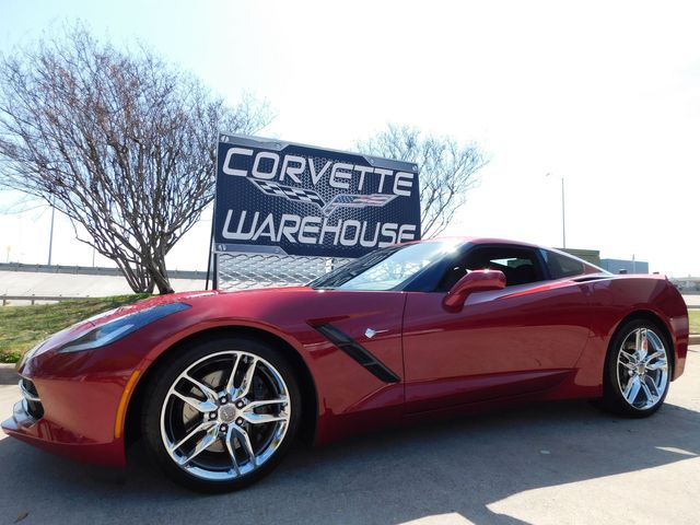 2014 Chevrolet Corvette Stingray Coupe Z51, 3LT, FE4, NAV, NPP, Auto, Chromes 15k