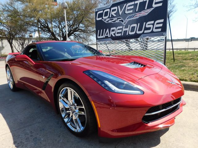 2014 Chevrolet Corvette Stingray Coupe Z51, 3LT, FE4, NAV, NPP, Auto, Chromes 15k in Dallas, Texas 75220