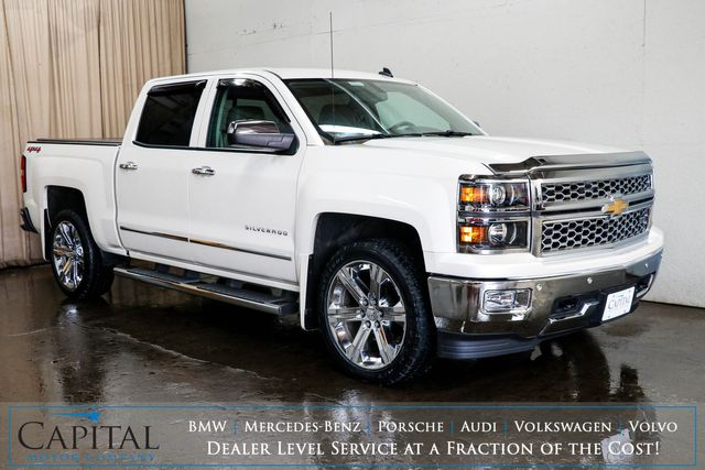 2014 Chevrolet Silverado 1500 LTZ Crew Cab 4x4 with 22-Inch Rims, Nav, Backup Cam, Heated Seats & BOSE Audio in Eau Claire, Wisconsin 54703