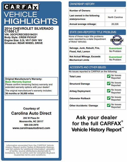 "2014 Chevrolet Silverado 1500 LT Crew Cab RWD - LOWERED - 20"" WHEELS - Mooresville , NC 3"