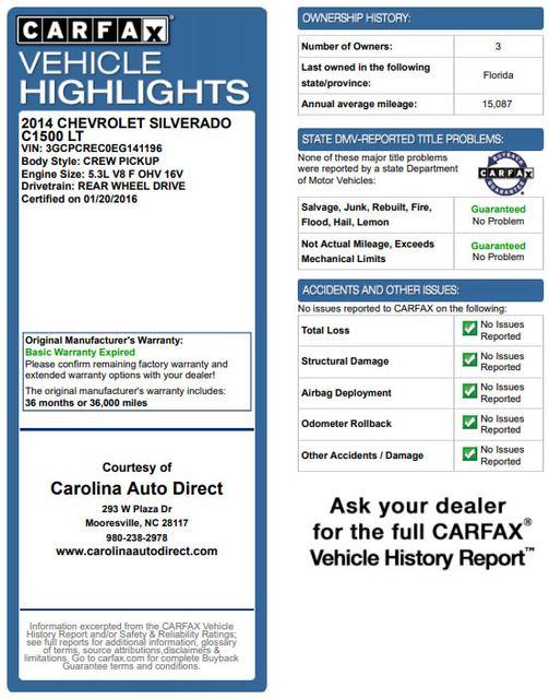 2014 Chevrolet Silverado 1500 LT Crew Cab RWD - ALL STAR EDITION - EXTRA$! Mooresville , NC 3