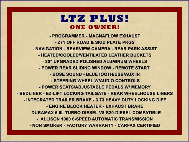 2014 Chevrolet Silverado 2500HD LTZ PLUS Crew Cab 4x4 Z71 - NAVIGATION! Mooresville , NC 1