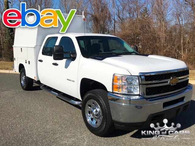 2014 Chevrolet Silverado 3500 W/T CREW CAB READING WALK-IN UTILITY BODY MINT 1-OWNER