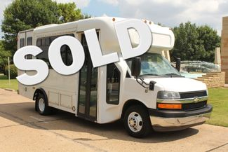 2014 Chevy Express G4500 StarTrans Senator 13 Passenger Shuttle Bus W/Lift Irving, Texas