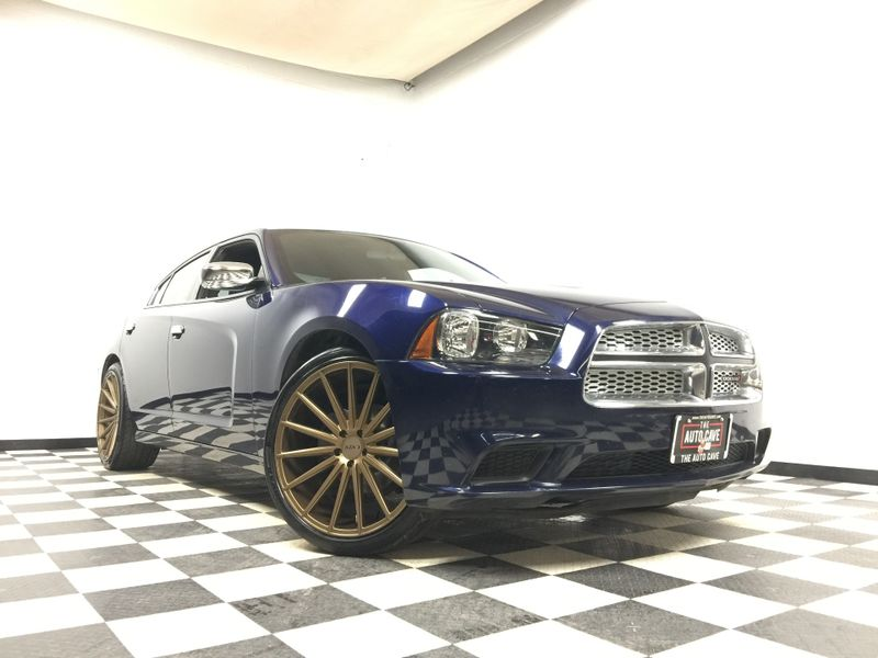 2014 Dodge Charger *Lightning Blue Charger on Polished 22' Gold Rims* | The Auto Cave in Addison