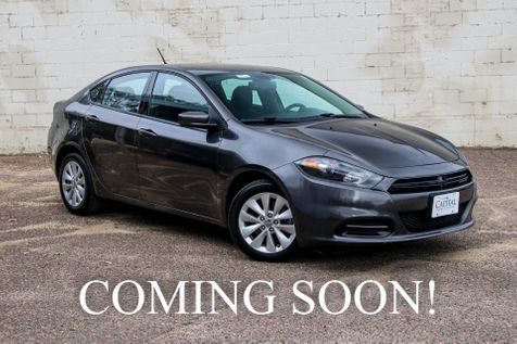 2014 Dodge Dart SXT w/ 35MPG, Large 8.4 Touchscreen, Backup Cam, Bluetooth Stream, Power Seat in Eau Claire