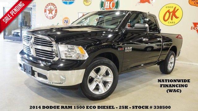 2014 Dodge RAM 1500 Lone Star 4X4 ECODIESEL,NAV,BACK-UP,CLOTH,20'S,...