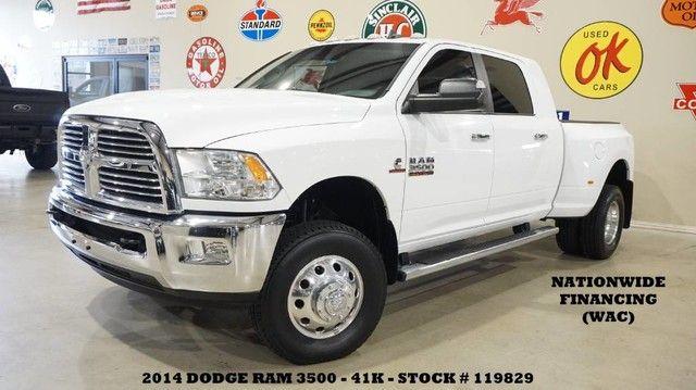 2014 Dodge RAM 3500 DRW Lone Star 4X4 DIESEL,NAV,BACK-UP CAM,LTH,41K!