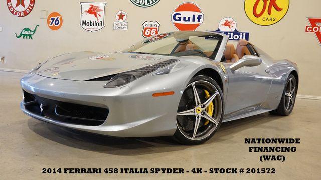 2014 Ferrari 458 Italia Spider MSRP 308K,NAV,BACK-UP CAM,6 DISK CD,4K
